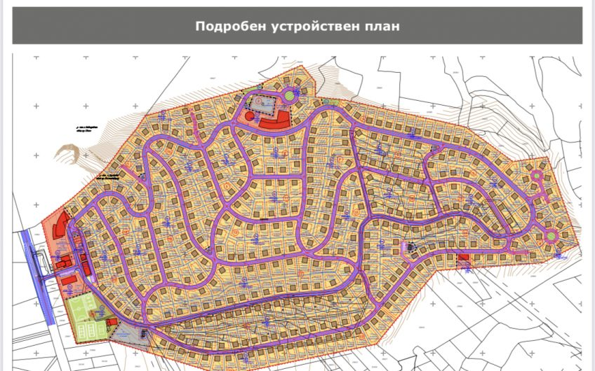 Терен вилна зона Дреново с проект за къщи
